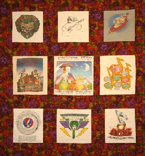 Greatful Dead Quilt - Custom Quilting