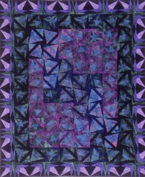 Photograph of quilt - Midnight in the Heath Quilt